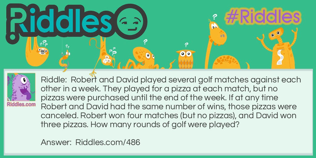 Rounds of Golf Riddle Meme.