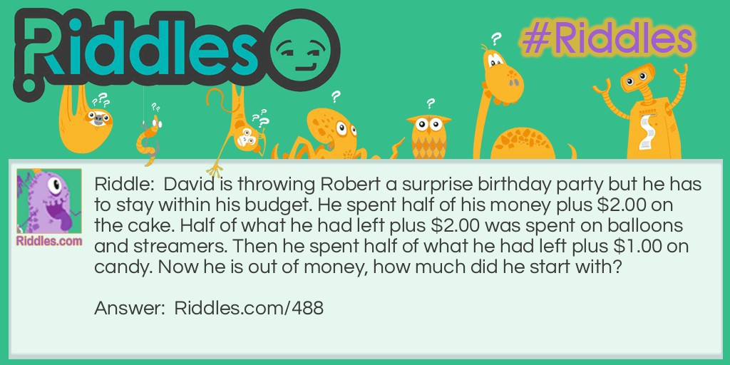 Surprise Party Riddle Meme.