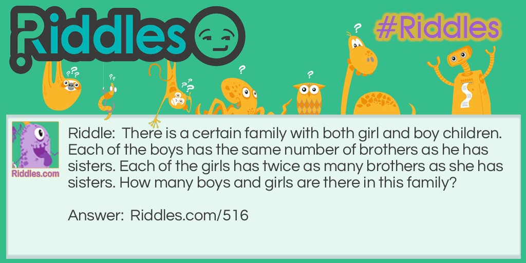 Sisters and Brothers Riddle Meme.