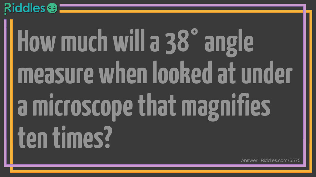 Angle Measure Riddle Riddle Meme.