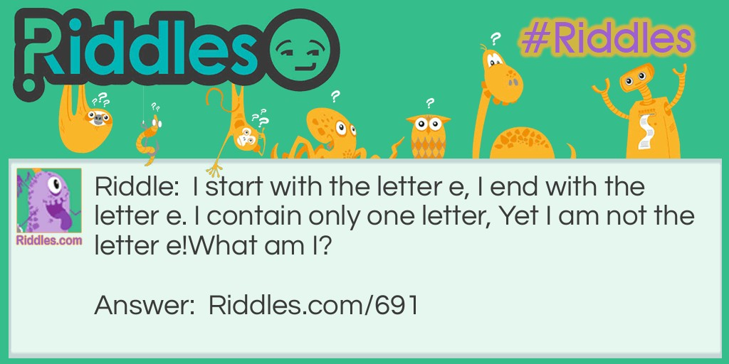 Contain only one letter Riddle Meme.