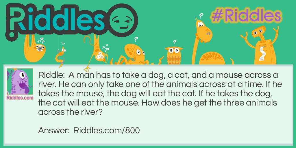 Dog, Cat, and Mouse Riddle Meme.