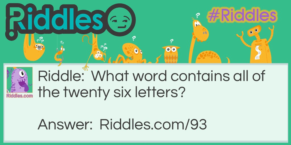 Clever Word Riddle Meme.