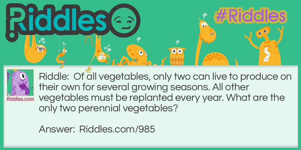 Vegetables! Riddle Meme.