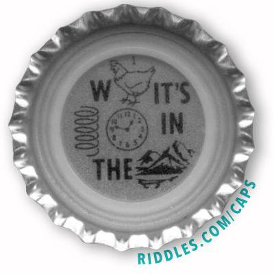 Lucky Beer Bottle Cap Puzzle #1 Series 1 Answer: Riddles.com/caps/1